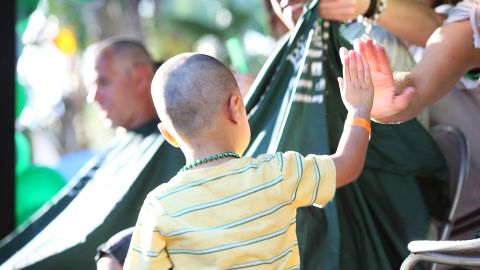 """<a href=""""http://www.stbaldricks.org/"""" target=""""_blank"""" target=""""_blank"""">St. Baldrick's Foundation</a> is a volunteer-driven charity that fights childhood cancers. A donation helps fund research for cures."""