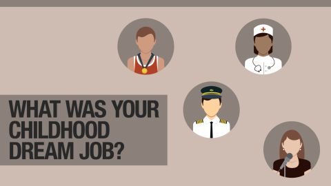 Which jobs topped LinkedIn's childhood dream jobs survey?