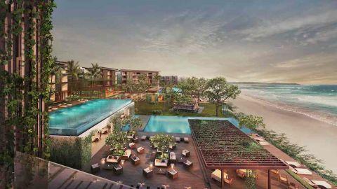 Alila Seminyak sits on a beach along Bali's southwest coast, a short walk from the bars and restaurants of Seminyak.