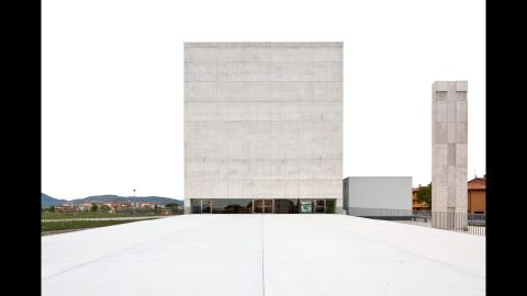 In Foligno, Italy, is the Church St. Paul the Apostle, designed by Massimiliano Fuksas.