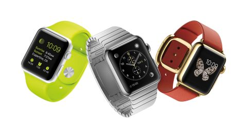 """The <a href=""""http://money.cnn.com/2015/03/09/technology/mobile/apple-watch-event/index.html"""" target=""""_blank"""">Apple Watch</a>, which will be available in April, can receive phone calls and send messages like an iPhone. It can also track fitness data and even pull up emails and some apps, including CNN."""