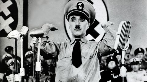 """When Hitler ruled Germany, comedian Charlie Chaplin lampooned him in """"The Great Dictator."""""""