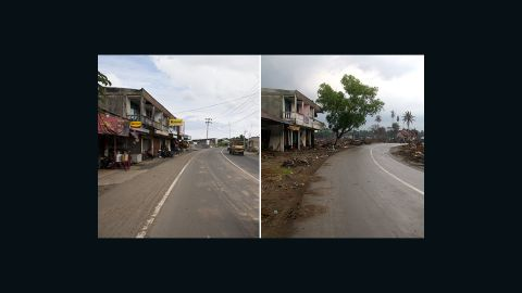 Lamteh was all but flattened by the tsunami -- it was previously one of the prime workshop areas in Banda Aceh and only two buildings survived. The road has since been widened, while many shops have re-opened along it.
