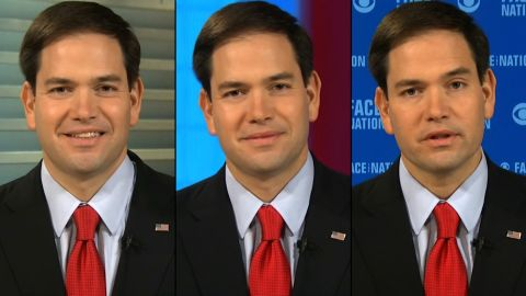 Sen. Marco Rubio, a Republican from Florida, rushed three Sunday news shows to continue his fight against President Barack Obama's decision to normalize relations with Cuba.