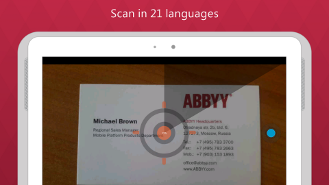 Wallet overflowing with errant business cards? Get your details digitzed with the ABBYY Business Card Reader: an app that scans and uploads card details in seconds.