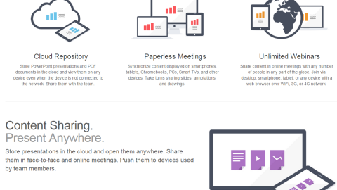 When it comes to cloud-based storage, MightyMeeting is the ideal business app, allowing users to store and share their presentations from anywhere. Graphs can be shared in real-time, and presentations can be beamed directly to boardrooms using the service.