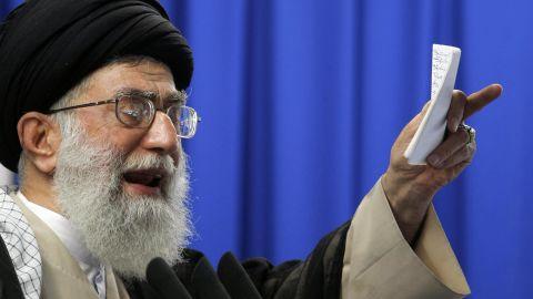 Iran's Supreme Leader Ayatollah Ali Khamenei pictured in June 2009