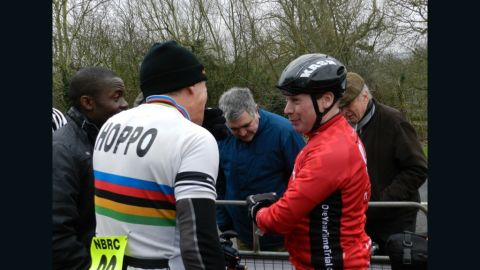 Abraham has enlisted the support of long distance champion Chris Hopkinson for his year-long record attempt.