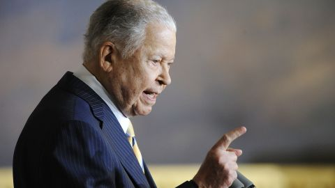 Caption:WASHINGTON - OCTOBER 28: Former Senator Edward William Brooke (R-MA) speaks during a ceremony to honor him with the Congressional Gold Medal in the Rotunda of the US Capitol on October 28, 2009 in Washington, DC. Brooke, a two-term Republican senator from 1967-1979, was the first African-American elected to the senate by popular vote. (Photo by Jonathan Ernst/Getty Images)