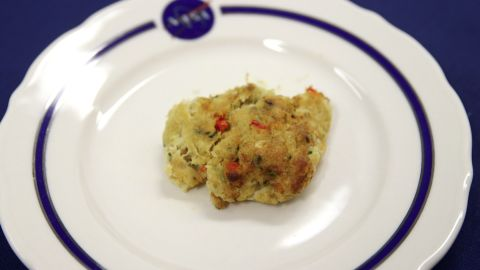 NASA's crab cake, made at the Johnson Space Center in Houston.