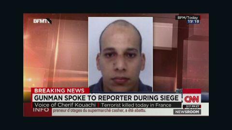 nr sot pleitgen audio gunman speaks during paris siege_00004606.jpg