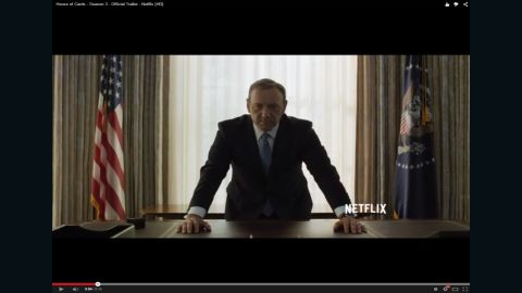 """Kevin Spacey as ruthless congressman-turned-President Frank Underwood in """"House of Cards."""""""