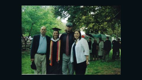 Jacy Good with her parents and brother on the day she graduated from Muhlenberg College in 2008.