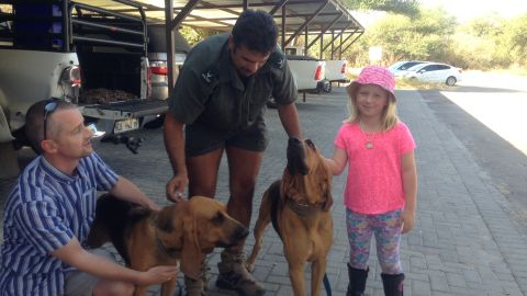 She has raised funds towards two trained sniffer dogs, which will patrol the entrance and exit points to the park, sniffing out poachers' weapons and contraband.