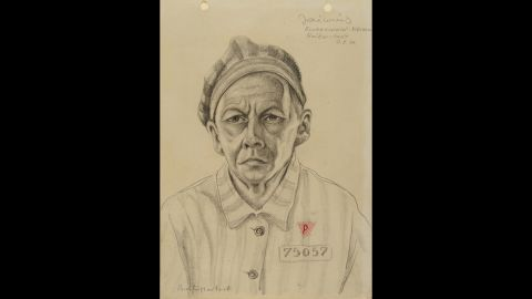"""Sieradzka says prisoners created portraits because the """"desire to have an image was very strong."""""""