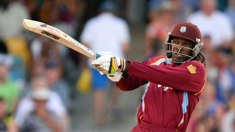 West Indies cricketer Chris Gayle is one of the best T20 players on the scene. He smashed records by scoring the fastest ever century in 2013, only needing 30 balls to hit three figures.