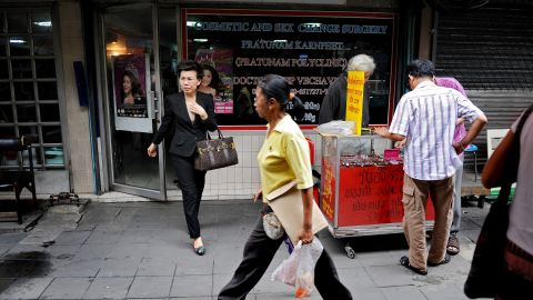 There's a perception that transgender people are well accepted in Thailand, due to the availability of gender reassignment surgery, as seen here in Bangkok. But challenges persist, says advocates.