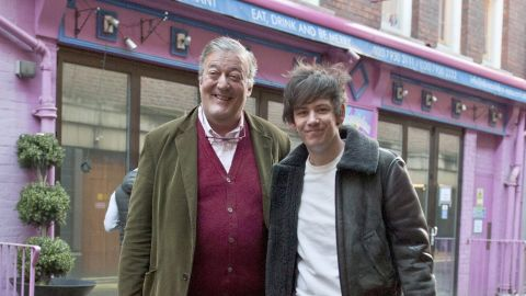 """Actor and comedian Stephen Fry married fiance Elliot Spencer on January 17. Fry <a href=""""https://twitter.com/stephenfry/status/556537953812774912"""" target=""""_blank"""" target=""""_blank"""">shared a picture on Twitter</a> of the couple with an Oscar Wilde doll witnessing their vows. Fry <a href=""""http://www.cnn.com/2015/01/06/intl_entertainment/uk-actor-stephen-fry/index.html"""">announced the engagement</a> January 6."""