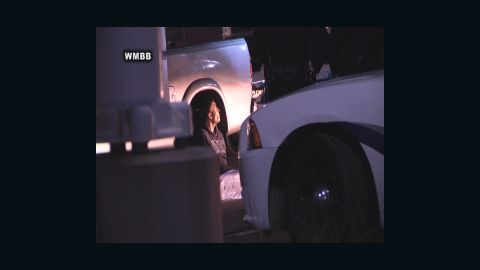 Dalton Haynes talks with Panama City Beach Police during his arrest.