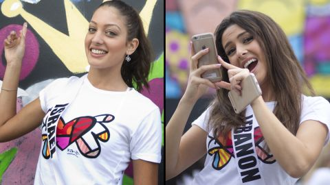 """An image posted on social media showing Miss Lebanon Saly Greige, right, and Miss Israel Doron Matalon together ignited <a href=""""http://www.cnn.com/2015/01/18/world/feat-miss-lebanon-miss-israel-picture/index.html"""" target=""""_blank"""">an online uproar.</a> The picture appeared on Matalon's Instagram feed on January 11. Greige responded by posting a statement on Facebook that said she was """"very cautious to avoid being in any photo or communication with Miss Israel."""""""