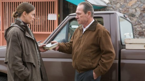 """Paul Haggis' somber 2007 drama """"In the Valley of Elah"""" starred Tommy Lee Jones as a military father searching for his missing son, an Iraq War vet, and Charlize Theron as a detective. It grossed less than $7 million in the U.S."""