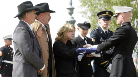 """Based on a true story, """"Taking Chance"""" starred Kevin Bacon as a lieutenant colonel escorting the body of a fallen Marine back to his hometown. The drama aired on HBO in 2009."""