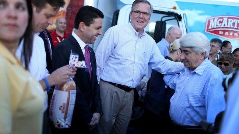 Jeb Bush is poaching old Mitt Romney staffers ahead of a potential 2016 bid, a source tells CNN.