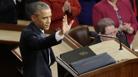 The speech was Obama's penultimate State of the Union address.