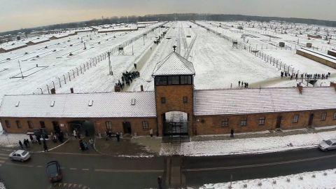 auschwitz drone footage