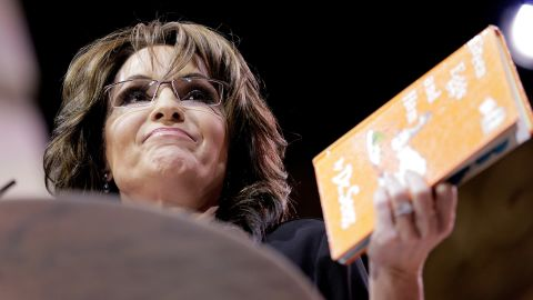 """Conservative pundit and former vice presidential candidate Sarah Palin read a parody version of """"Green Eggs and Ham"""" during the Conservative Political Action Conference in 2014."""