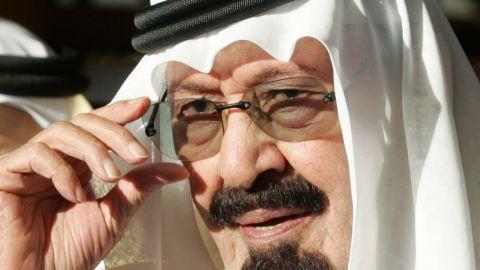 Saudi King Abdullah bin Abdul Aziz seen here in a file photo taken in Riyadh in 2007.
