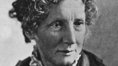 """Harriet Beecher Stowe's best-selling novel """"Uncle Tom's Cabin"""" popularized the anti-slavery campaign."""