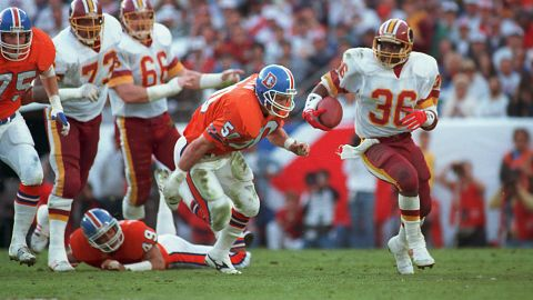 <strong>Most rushing yards in a Super Bowl:</strong> Washington quarterback Doug Williams won the Super Bowl MVP award in 1988, but rookie running back Timmy Smith set a Super Bowl record that year with 204 rushing yards against Denver.