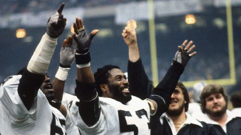 <strong>Most interceptions in a Super Bowl:</strong> Oakland linebacker Rod Martin (No. 53) had three interceptions as the Raiders defeated the Philadelphia Eagles in 1981.