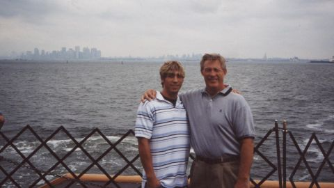 Ferguson and his father visit New York City after his arrest. This was his last trip there for a decade.