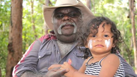 The most important issue for Kuku Yalanji elder Peter Wallace is ensuring that their young people are proud of who they are and where they come from.