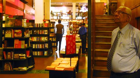 Established in 1920, Oxford Bookstore on Park Street offers the city's widest range of Indian and international titles. Mr. Motwani (front right) is an in-house consultant who has been with the bookstore for more than 60 years. He offers suggestions on what to read.
