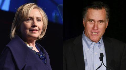 Hillary Clinton: December 2014; Mitt Romney, Jan. 2015