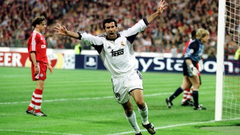 Figo's return to Barcelona's Camp Nou with his new team was unforgettable. He was roundly booed and, on a later visit, had bottles, coins and even a pig's head thrown at him from the stands. He won another seven trophies with Real, including the European Champions League in 2002.