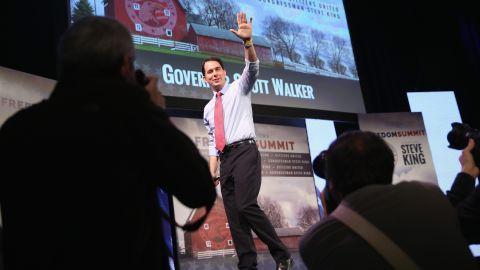 Scott Walker speaks at the Iowa Freedom Summit.