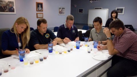 Food scientists at the Johnson Space Center, in Houston, conduct extensive research into the astronauts' diet. Many formulas will be tried out before anything is sent to the Space Station.
