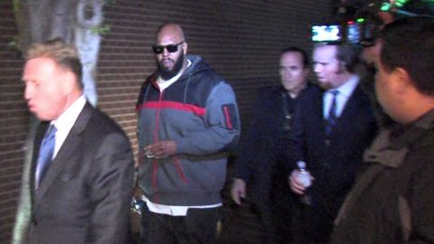 This image from video shows Knight walking into the Los Angeles County Sheriff's Department on January 30, 2015 following the hit-and-run.