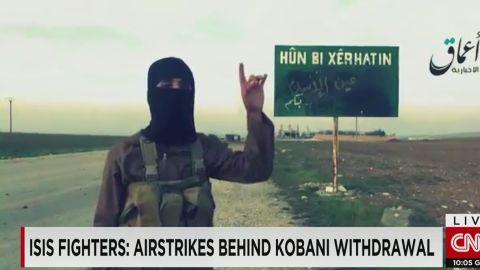vo newsroom isis fighters say airstrikes caused kobani withdrawal_00003706.jpg