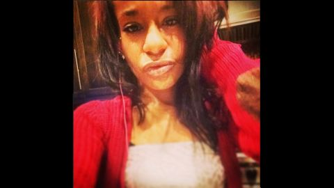 Bobbi Kristina Brown is seen in a photo she posted to Instagram around 2 a.m. EST on Saturday, January 31.  She was found later Saturday unresponsive in the bathtub in her suburban Atlanta home.