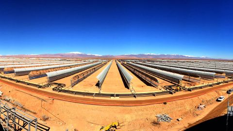 Morocco's Noor 1 solar plant outside Ouarzazate is among the nation's cutting edge renewable energy projects. When it is completed in 2018 it will produce enough clean energy to power one million homes.