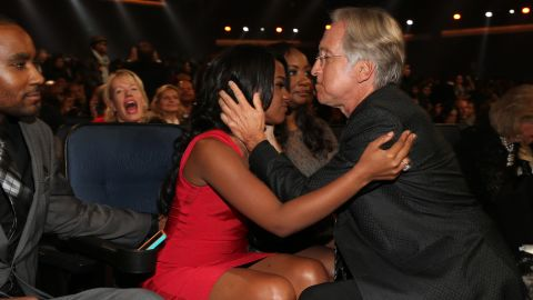 """Bobbi Kristina and Neil Portnow, president of the National Academy of Recording Arts and Sciences, attend """"We Will Always Love You: A Grammy Salute to Whitney Houston"""" in October 2012."""