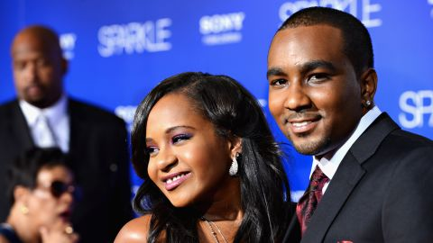 """Bobbi Kristina Brown and Nick Gordon arrive at the 2012 movie premiere of """"Sparkle"""" in Hollywood. Brown and Gordon <a href=""""http://www.cnn.com/2013/07/10/showbiz/celebrity-news-gossip/houston-daughter-engaged-ew/"""">reportedly were engaged</a> in 2013. An attorney for her father <a href=""""http://www.cnn.com/2015/02/04/entertainment/whitney-houston-daughter-bobbi-kristina-hospitalized/"""">says the two never married</a>, contrary to some reports."""