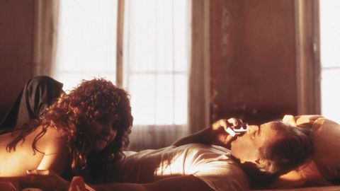 """Graphic sex scenes between Marlon Brando and Maria Schneider in """"Last Tango in Paris"""" shocked the world at the time and initially earned the film <a href=""""http://mentalfloss.com/article/28925/what-happened-x-rating"""" target=""""_blank"""" target=""""_blank"""">an X rating as well as two Academy Award nominations. </a>"""