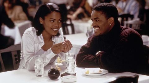 """""""Love Jones"""" is the story of a poet and photographer -- Nia Long and Larenz Tate -- trying to figure out if they'd found lasting love, and it's filled with scenes of their lustful explorations. Their initial sleepover, set to the tune of Maxwell's """"Sumthin' Sumthin',"""" is one that'll threaten to set fire to your TV."""