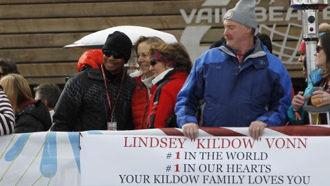 The golfer was also a regular on the slopes to cheer on the 2010 Olympic champion.